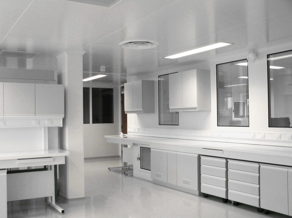 Zmaj cleanroom space with elements.